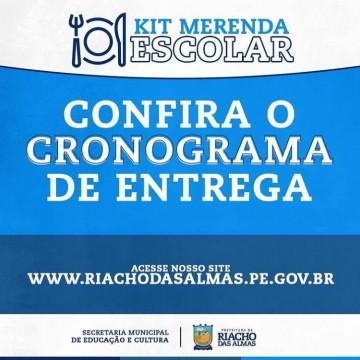 Entrega de kits de merenda escolar em Riacho das Almas nesta quinta-feira