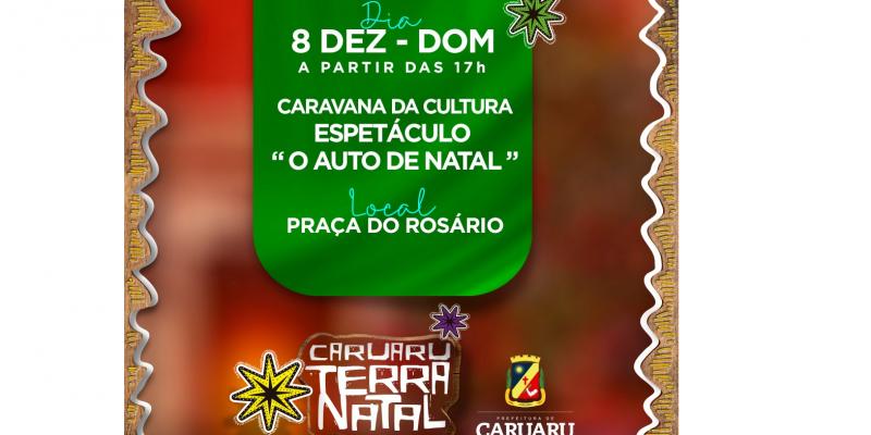 """Espetáculo """"Auto de Natal"""" será apresentado na Praça do Rosário a partir das 17h"""