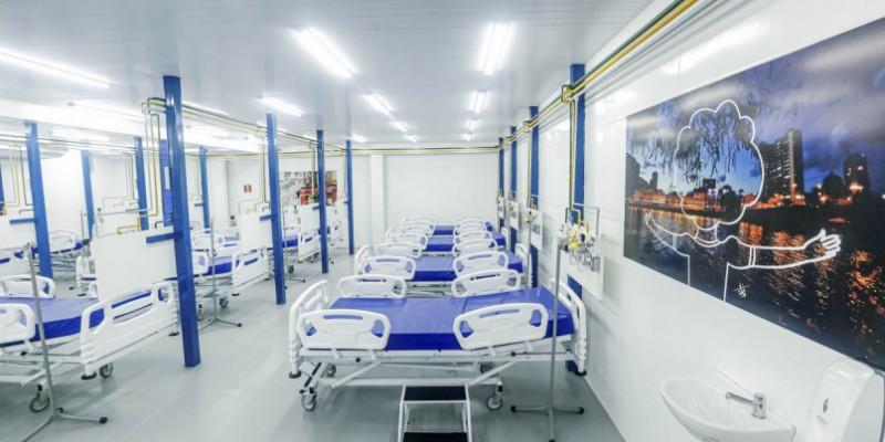 Localizado no bairro da Imbiribeira, este é o sexto dos sete hospitais de campanha a ser desmontado