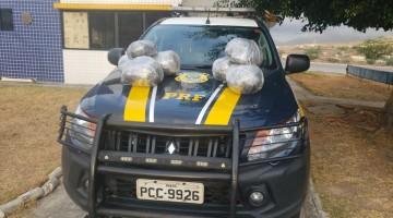 OCUPANTE DE VEÍCULO JOGA 6,6KG DE MACONHA PELA JANELA APÓS  DESOBEDECER ORDEM DE PARADA DA PRF