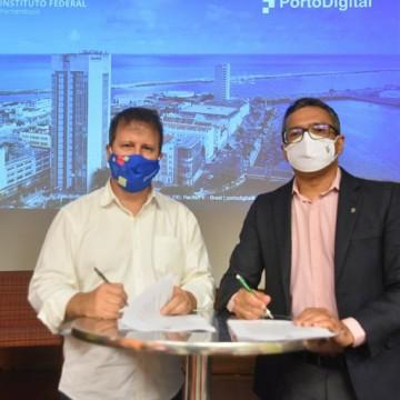 IFPE e Porto Digital firmam parceria que garante programa de residência no Parque Tecnológico
