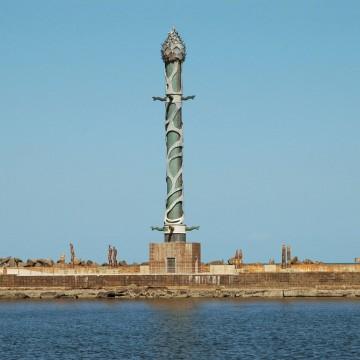 Obras do Parque das Esculturas são pichadas no Recife Antigo