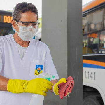 Prefeitura de Olinda realiza ação contra o coronavírus no Terminal Integrado da PE-15