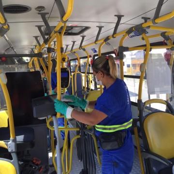 Ações de combate ao novo coronavírus são implantadas em ônibus e metrô da RMR
