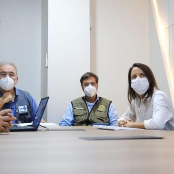 Prefeita de Caruaru pede mais vacinas para o Agreste durante reunião com ministro da Saúde
