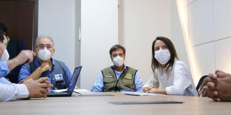 Durante o encontro, foi apresentado o trabalho desenvolvido pela gestão municipal durante a pandemia, além da situação atual de toda região