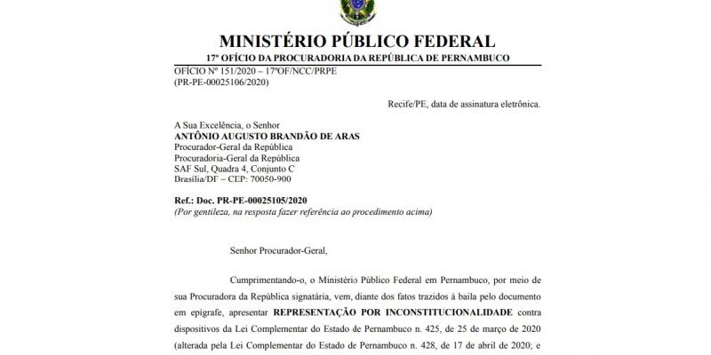A lei questionada foi sancionada pelo governador Paulo Câmara (PSB) e publicada no Diário Oficial em março.