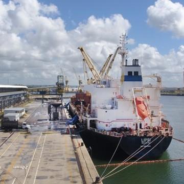 Terminal de granéis sólidos volta a operar no Porto de Suape