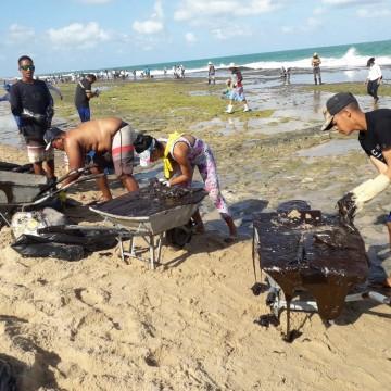 Mais de 50 toneladas de óleo já foram retirados das praias pernambucanas