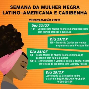 Semana da Mulher Negra Latino Americana e Caribenha será comemorada em Caruaru