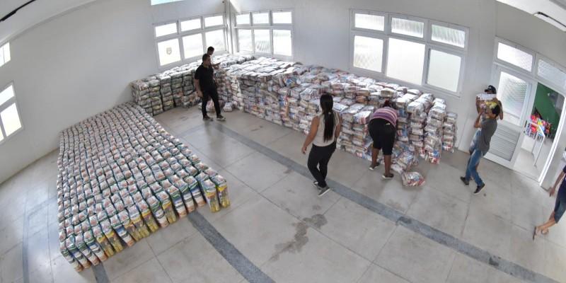 Os alimentos foram doados pela Neoenergia, através do Transforma Brasil